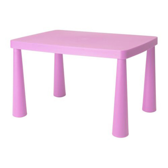 Children's Table Rectangular Pink