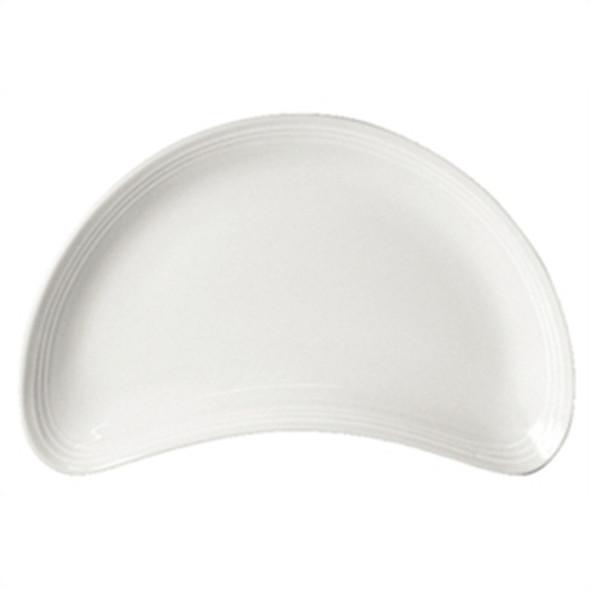 """White Crescent Veg Dish (8"""")"""