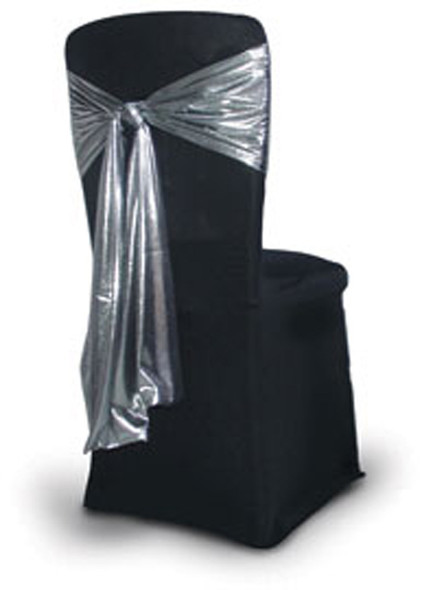 Satin Chair Tie / Table Runner Silver