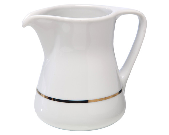 Gold Rim Milk Jug 10oz