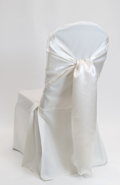 Satin Chair Tie / Table Runner Ivory