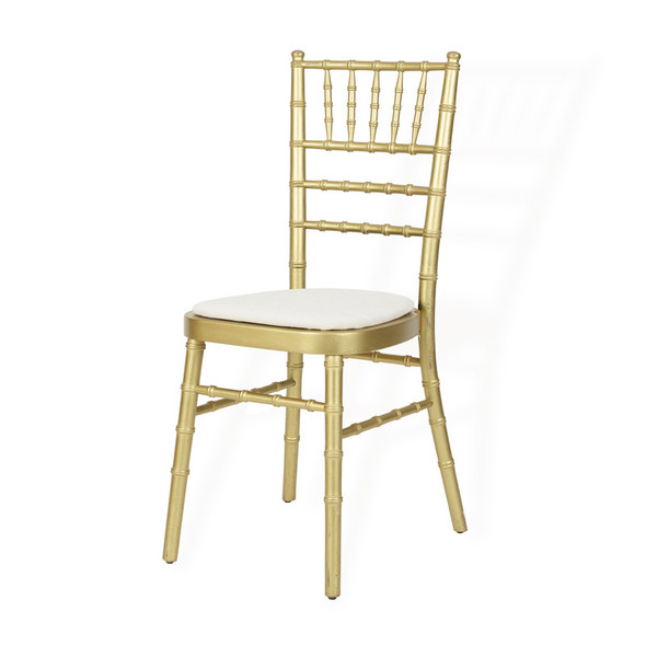 Chiavari Chair Gold with Ivory Pad