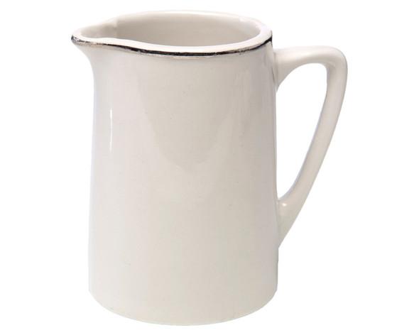 Silver Rim Milk Jug 8oz