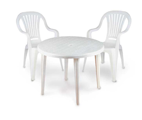Garden Table/Patio Table White 2ft