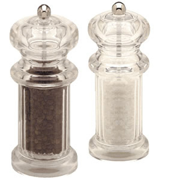 Clear Salt & Pepper Mills (Filled)