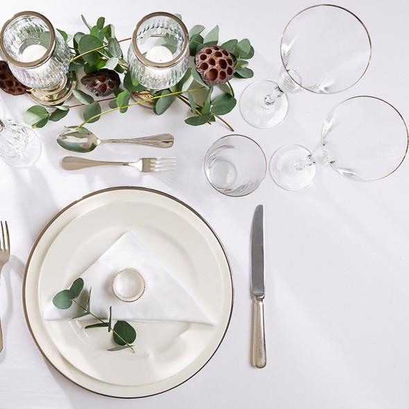 Silver Rim White Wine Glass  7oz