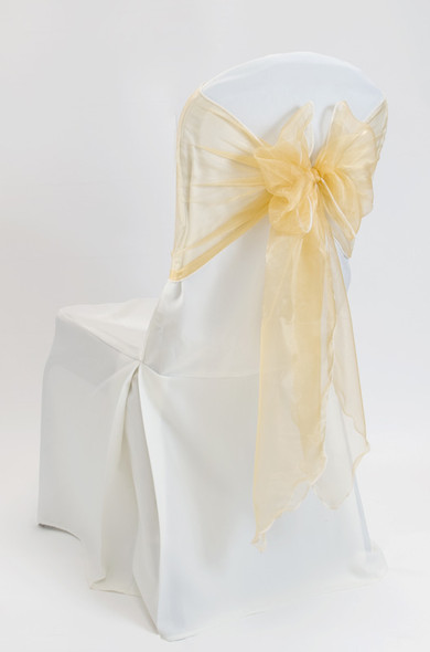 Organza Chair Tie / Table Runner Gold
