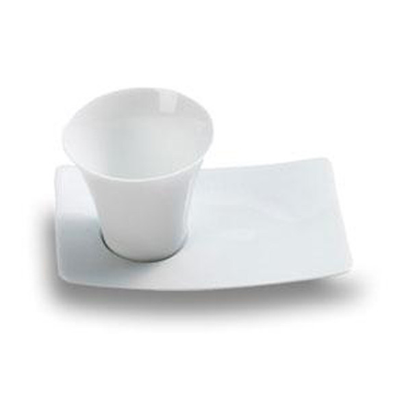 White Cup & Saucer Mini Dish