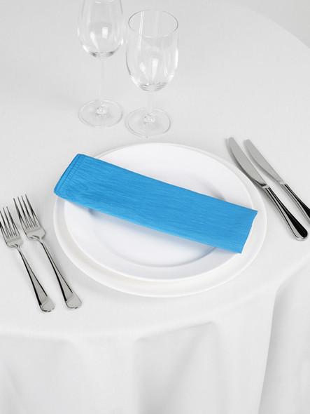 Silk Taffeta Napkin Turquoise 20in x 20in