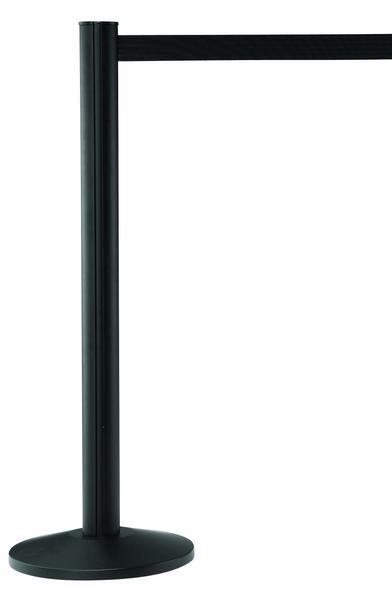 Black Retractable Belt Barrier