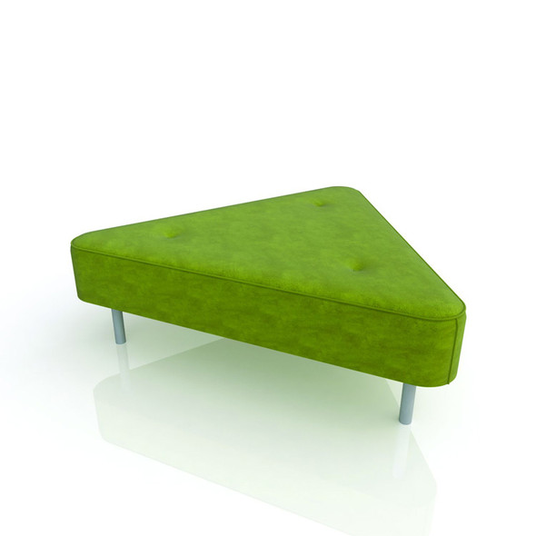 Triangle Ottoman Lime Green