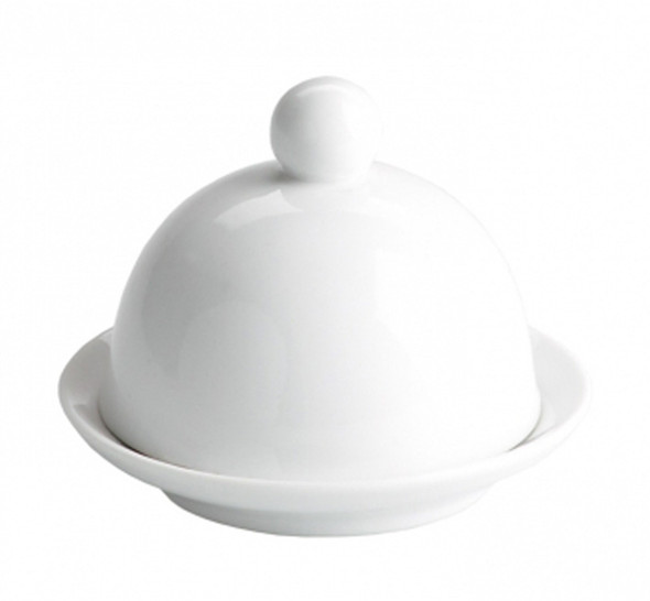 White Butter Dish with Cloche