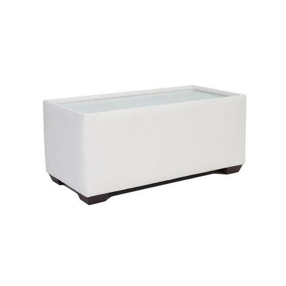 Sorrento Coffee Table White Leather
