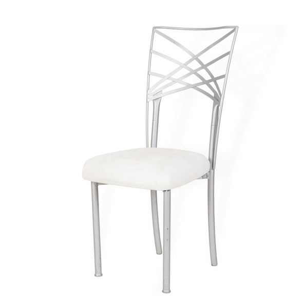 Chameleon Chair Silver Back with White Pad
