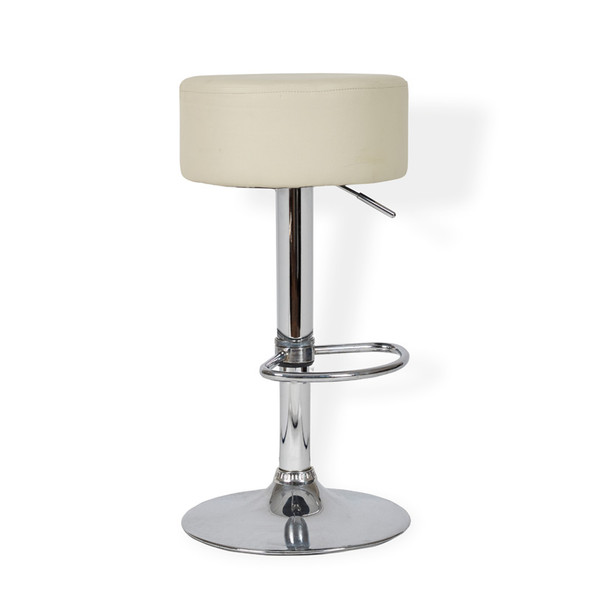 Button Bar Stool White