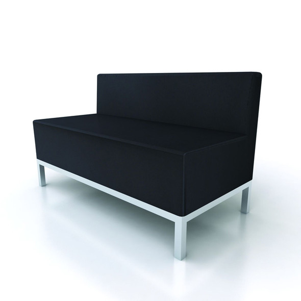 Heathrow 2 Seater Sofa - Black