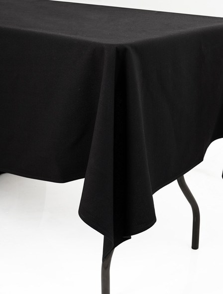 Linen Tablecloth Black 54in x 120in