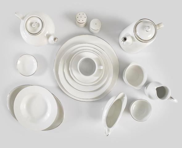 Silver Rim Tea Pot 32oz