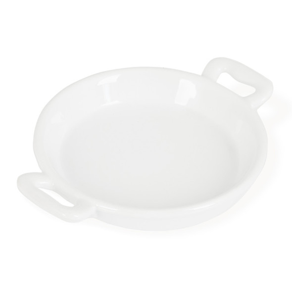 White Paella Dish Small 4in