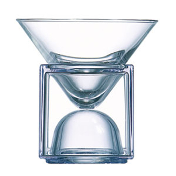 Cubix Martini Bowl with Clear Cube 6.5oz