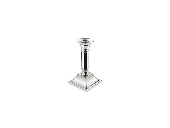 Silver Candlestick Square Base 8.5in