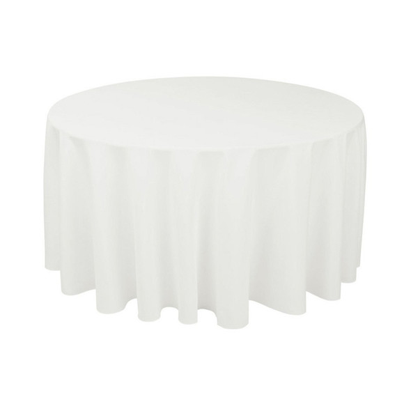 Linen Tablecloth For Sale - White Round 130in