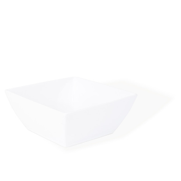 "Square White Ceramic Bowl (10"" x 10"")"