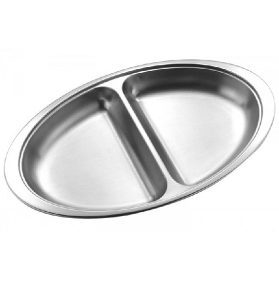 Vegetable Dish Oval 10in 2 Section