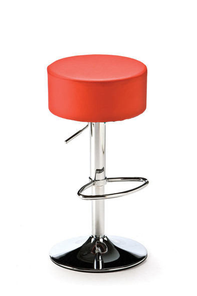 Button Bar Stool Red