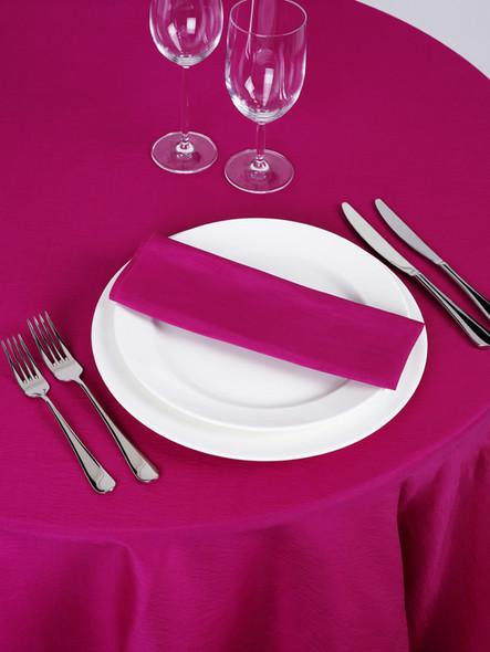 Silk Taffeta Tablecloth Hot Pink Round 132in