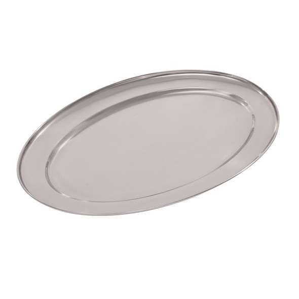 """Oval Flat Serving Tray 20"""""""