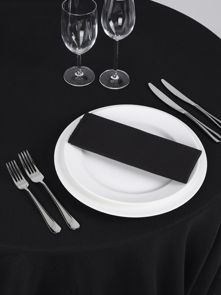 Linen Tablecloth Black Round 120in