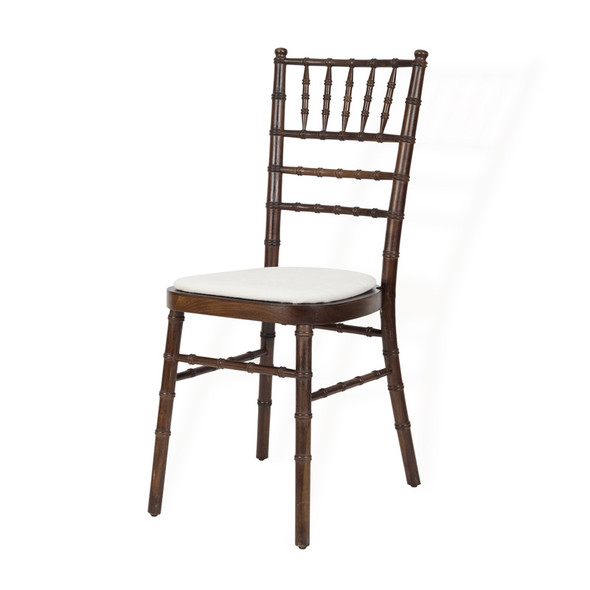 Chiavari Chair Mahogany with Ivory Pad
