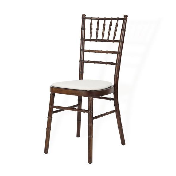 Chiavari Chair Mahogany with Ivory Pad