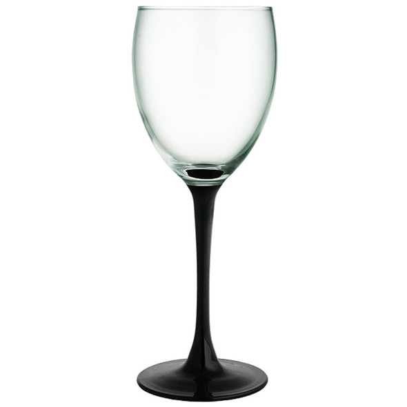 Black Stem Wine Glass 8oz