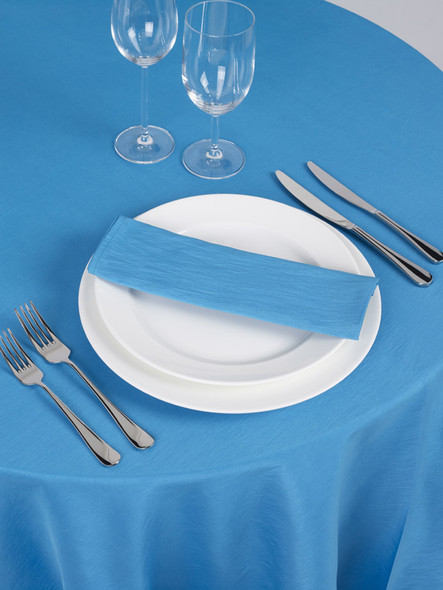 Silk Taffeta Tablecloth Turquoise Round 132in