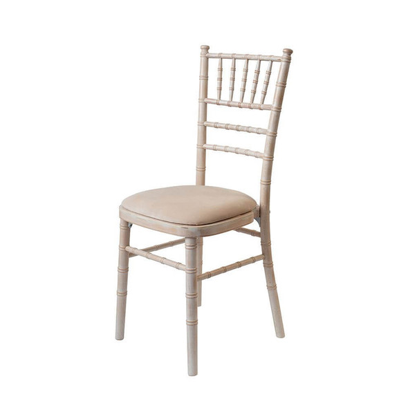 Chiavari Limewash Chair with Ivory Pad (Standard)