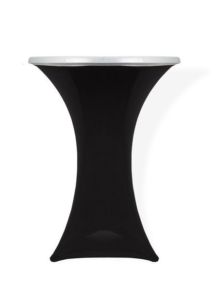 Spandex Pod Table Topper Silver Sparkle