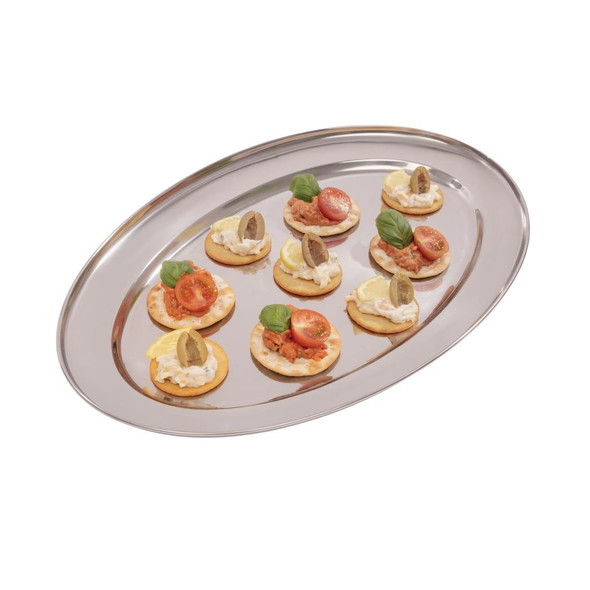 """Oval Flat Serving Tray 18"""""""