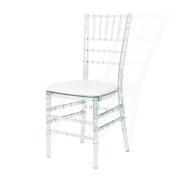 Chiavari Chair Crystal with White Pad