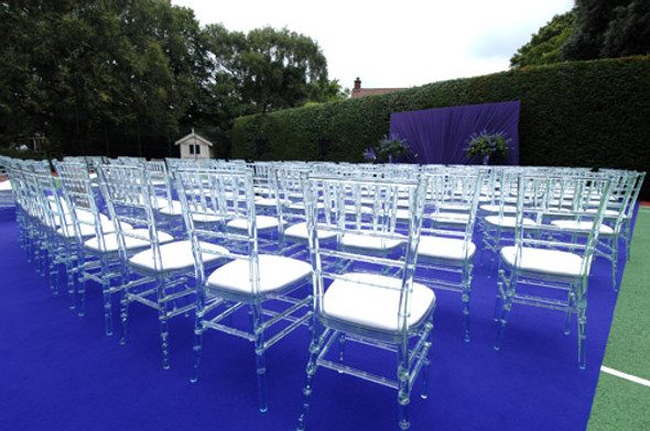 Chiavari Chair Crystal with White Pad
