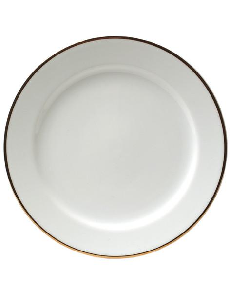 """Gold Rim Dinner Plate 12"""""""