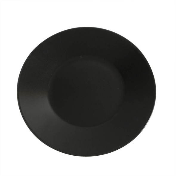 Black Round Plate 12in
