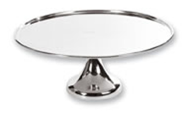 Silver Footed Round Cake Stand 16""