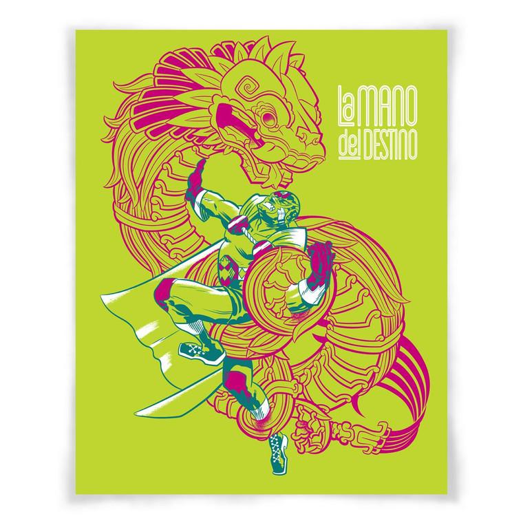 """""""La Mano y Quetzalcoatl"""" print"""