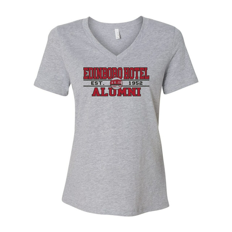 Alumni V-Neck: Ladies Grey