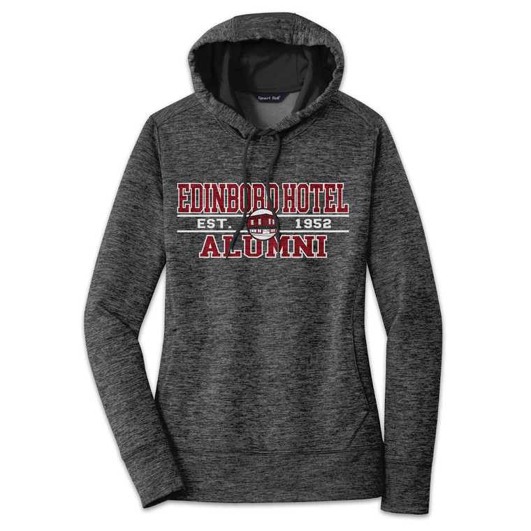 Alumni Hoodie: Womens Black Heather