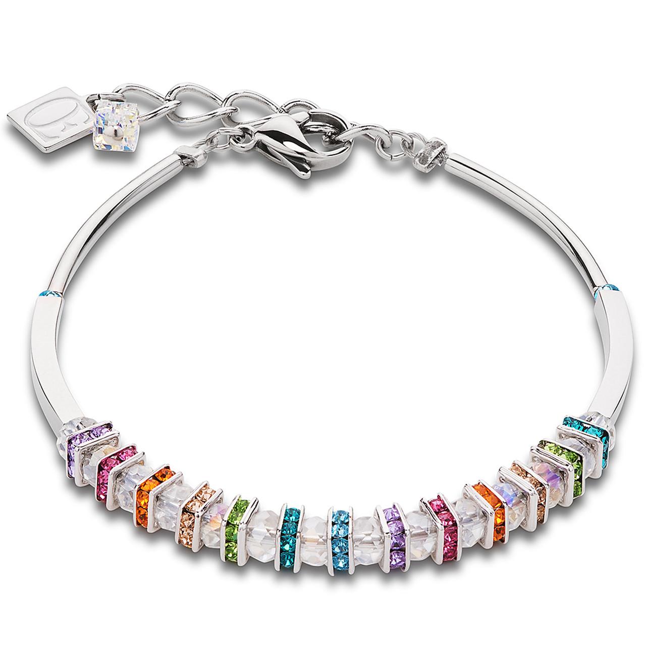 Coeur De Lion Swarovski Crystals & Cut Glass Multi Coloured Bracelet  4858-30-1518