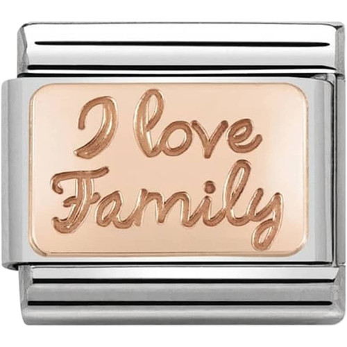 9a1194e7c Nomination Ladies Composable Classic 9K Rose Gold I Love Family Charm  430101/41