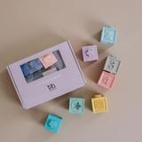 3H Soft Building Block Teether & Bath Toy Set